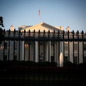 White house with bars