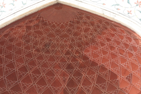 Before walking into the ground of the Taj Mahal, beautiful symmetry.